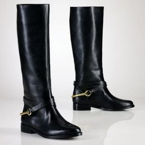 Ralph Lauren Jenny Vachetta Stirup boots